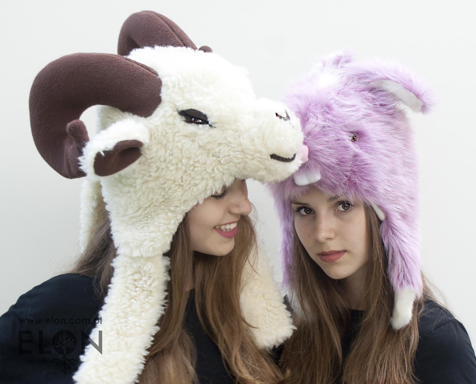 Czapka baran - wełniana i czapka królik