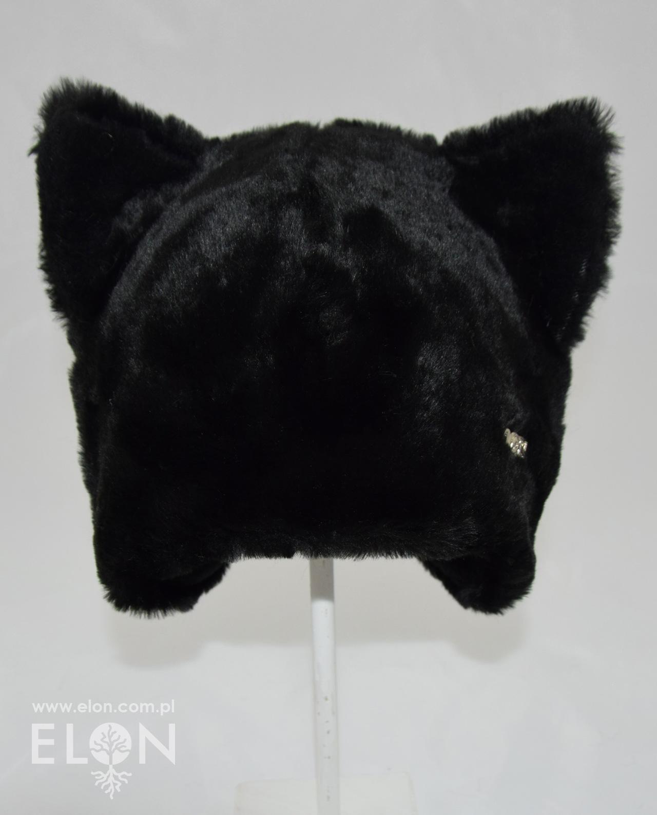 Czapka kot - czarna