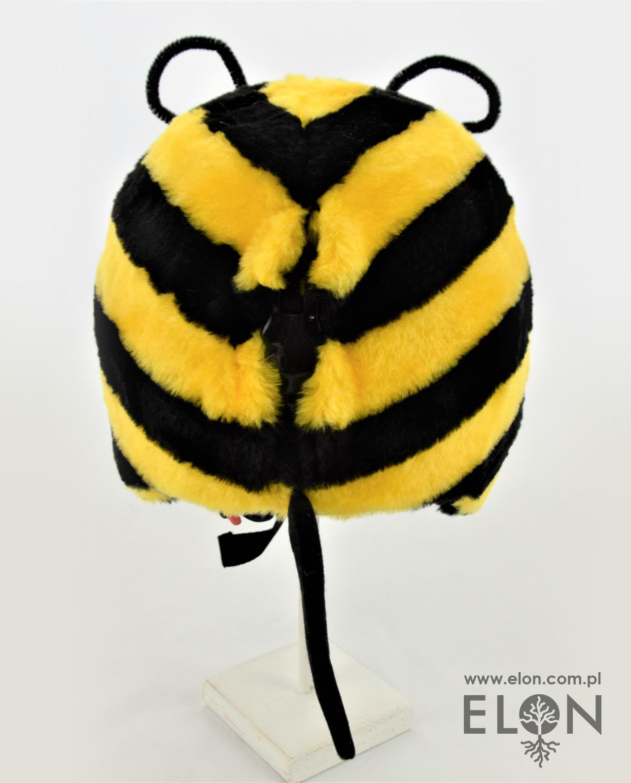 Czapka na kask narciarski - Pszczółka